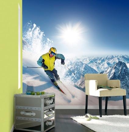 fotomural deporte esquí