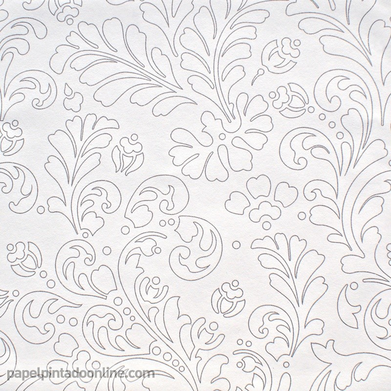 Papel pintado blanco avenue fotomurales decorativos for Papel pintado blanco barato