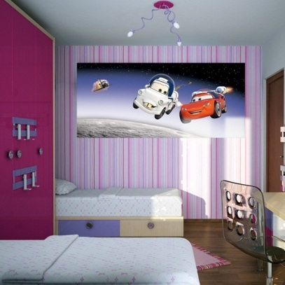 Fotomural Decorativo Panoramico de Cars
