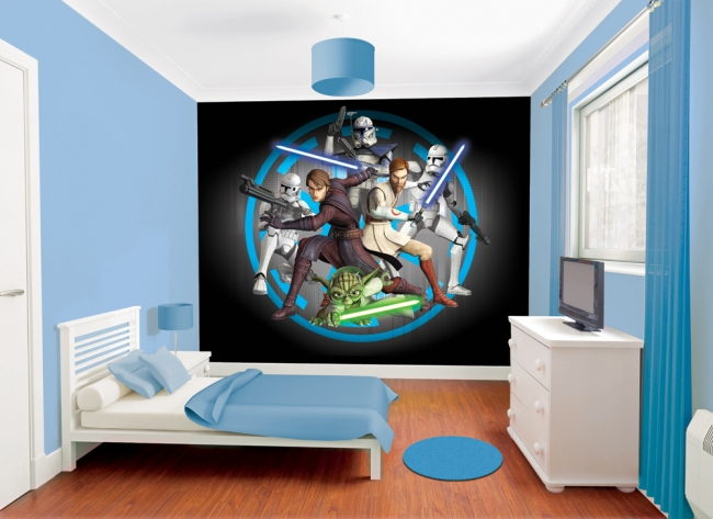fotomural star wars fotomurales decorativos. Black Bedroom Furniture Sets. Home Design Ideas