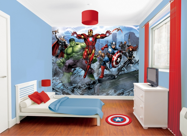 Fotomural the avengers fotomurales decorativos for Mural para pared dormitorio
